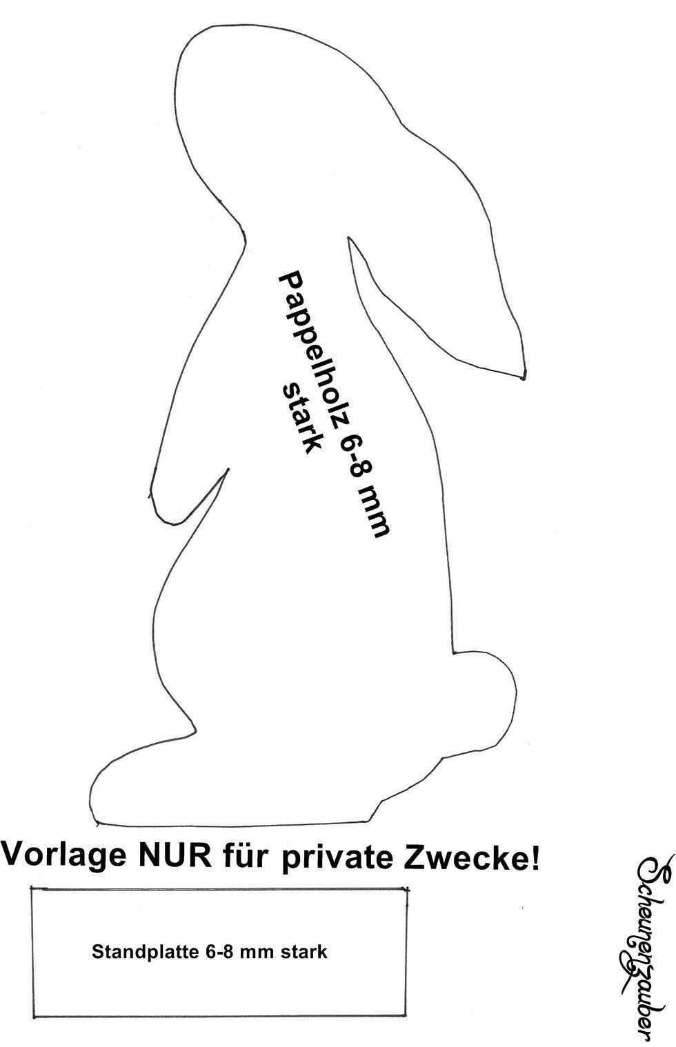 Hase Vorlage Zum Selber Machen Ostern Vorlagen Ostern Basteln Holz Diy Ostern
