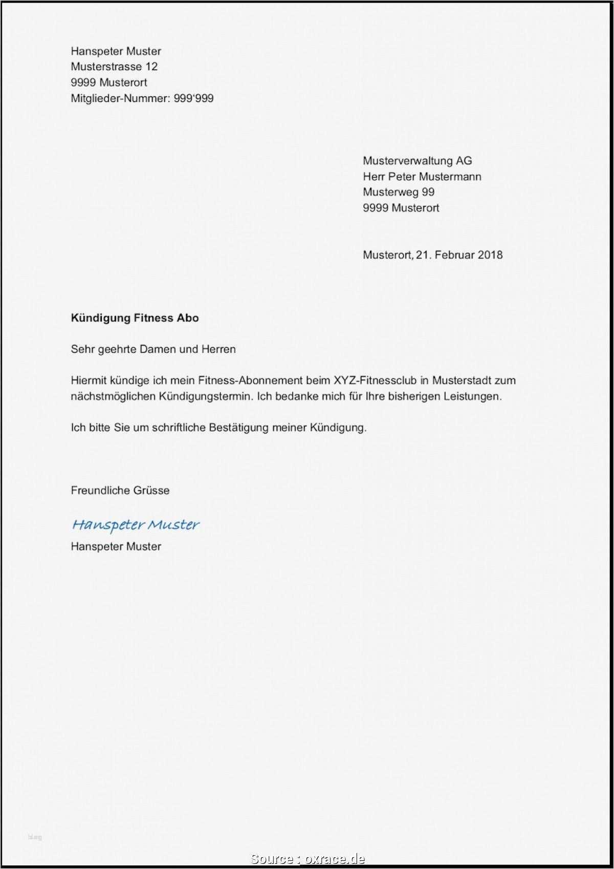 Detaillierte Fitness Kundigung Muster Lebenslauf Vorlagen Word Vorlage Kundigung Mietvertrag