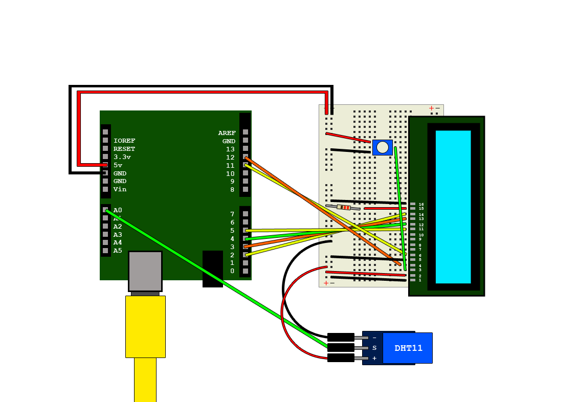 Arduino And Dht11 Output To Lcd Module Hive Rd Blog