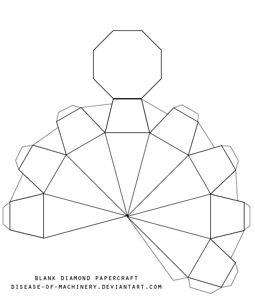 Blank Diamond Template By Disease Of Machinery On Deviantart Paper Diamond Diamond Template Diy Paper