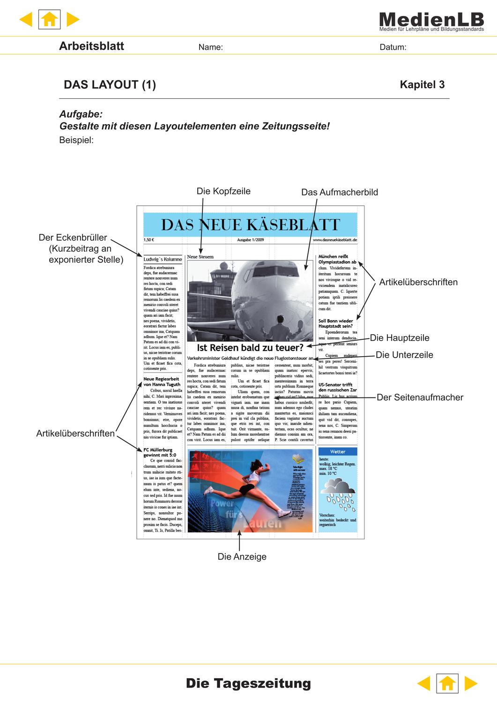 Tageszeitung Selbst Gestalten Unterrichtsmaterial In Den Fachern Deutsch Informatik Itg In 2020 Lehrer Planer Tageszeitung Gestalten