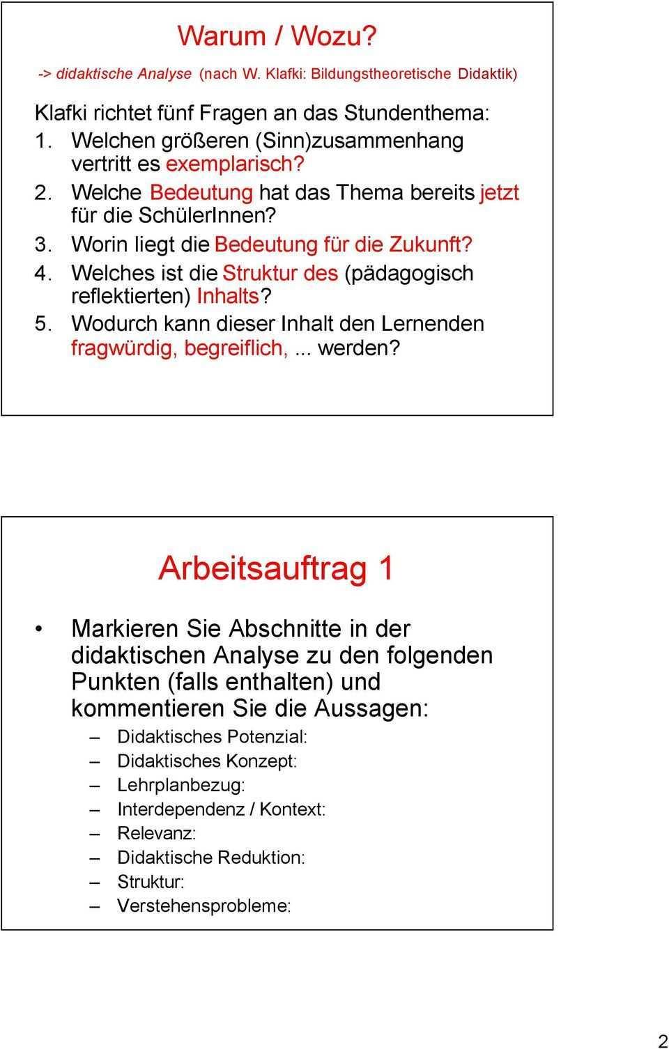 Studienseminar Koblenz Didaktische Analyse Und Intentionen Entscheidungen Zur Didaktik Im Zusammenhang Mit Dem Stundenentwurf Pdf Free Download