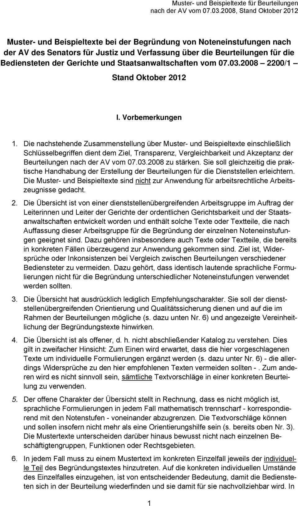 Muster Und Beispieltexte Fur Beurteilungen Nach Der Av Vom Stand Oktober Pdf Kostenfreier Download