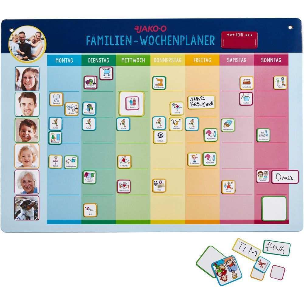 Familien Wochenplaner Jako O Magnetisch Jako O Wochen Planer Kalender Fur Kinder Planer