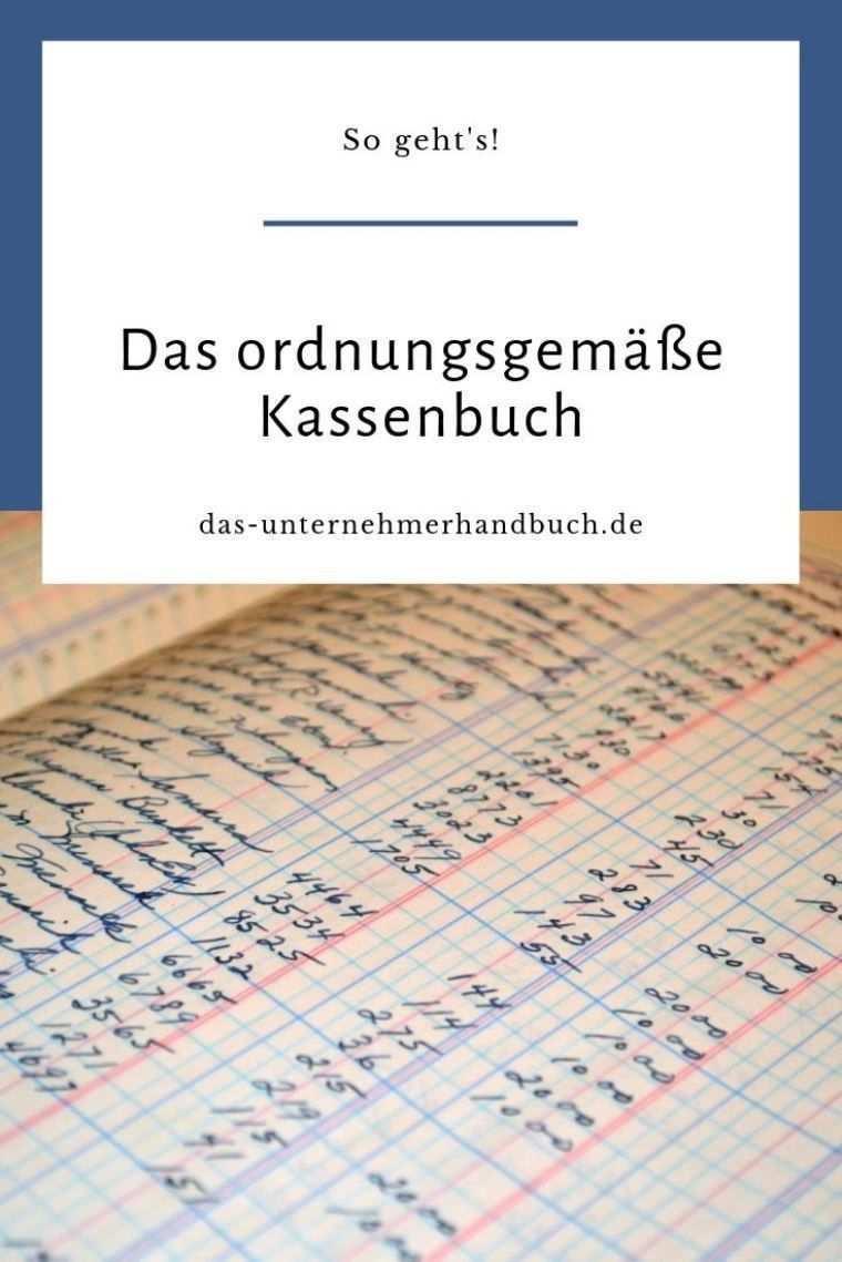 Das Richtige Kassenbuch So Geht 39 S Kassenbuch Buchhaltung Lernen Finanzen