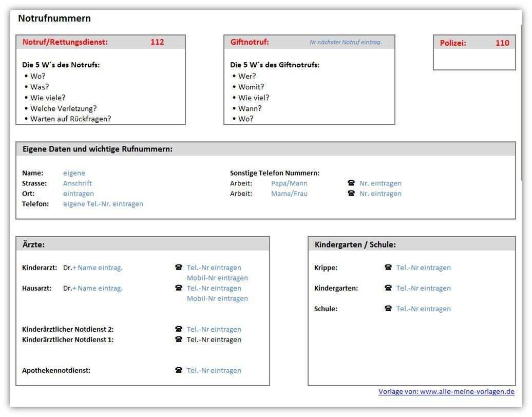 Notrufnummern Ist Eine Kostenlose Excel Und Open Office Vorlage Fur Die Wichtigsten Notfallnummern Hange Excel Vorlage Microsoft Excel Buroorganisation Tipps