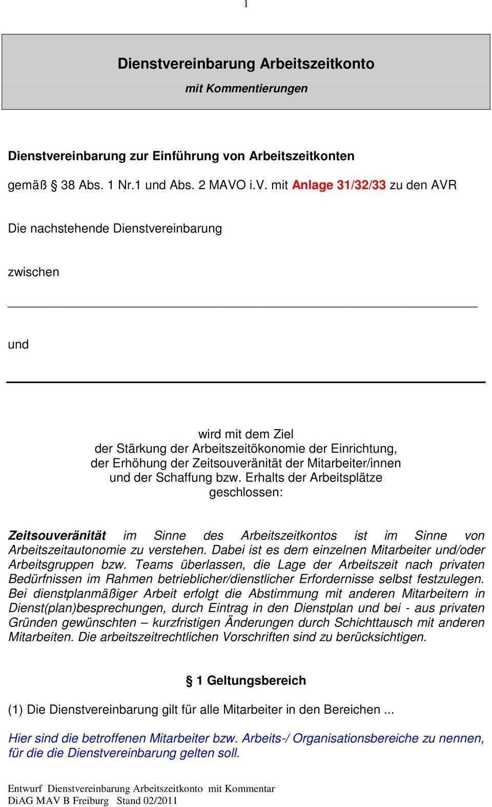 Dienstvereinbarung Arbeitszeitkonto Pdf Free Download