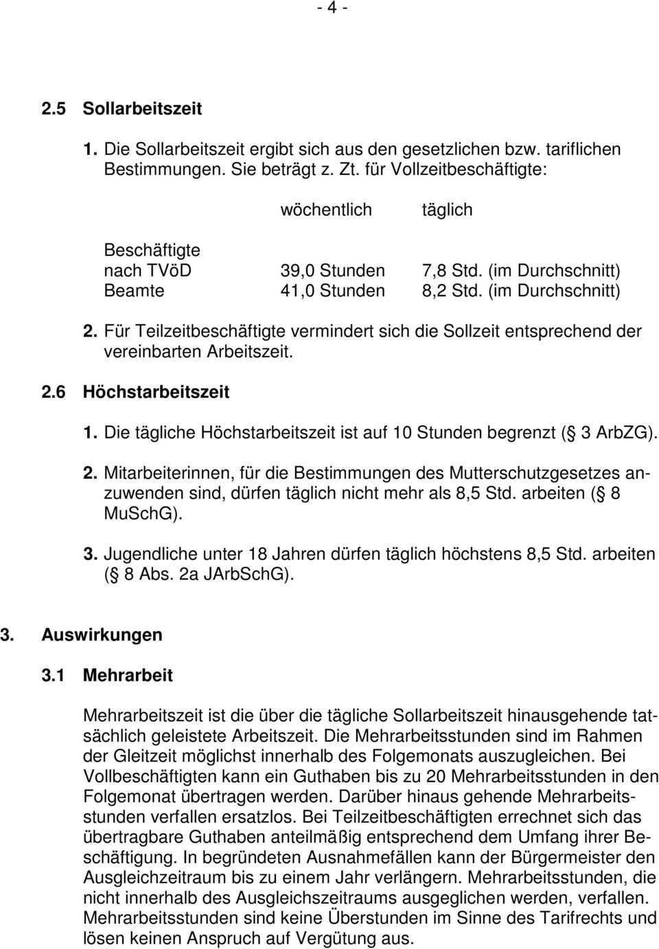 Gemeinde Immendingen Dienstvereinbarung Gleitende Arbeitszeit Pdf Kostenfreier Download