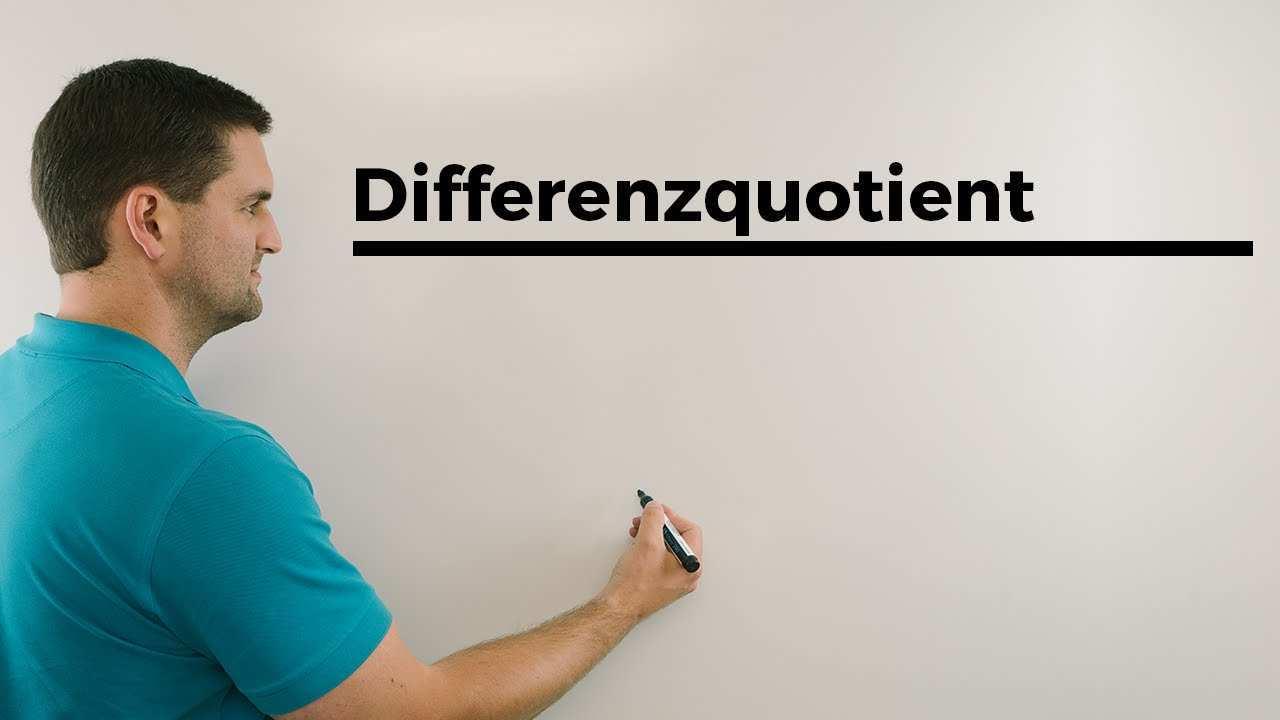 Differenzenquotient Differentialquotient Tangentengleichung Totales Differential Daniel Jung Youtube