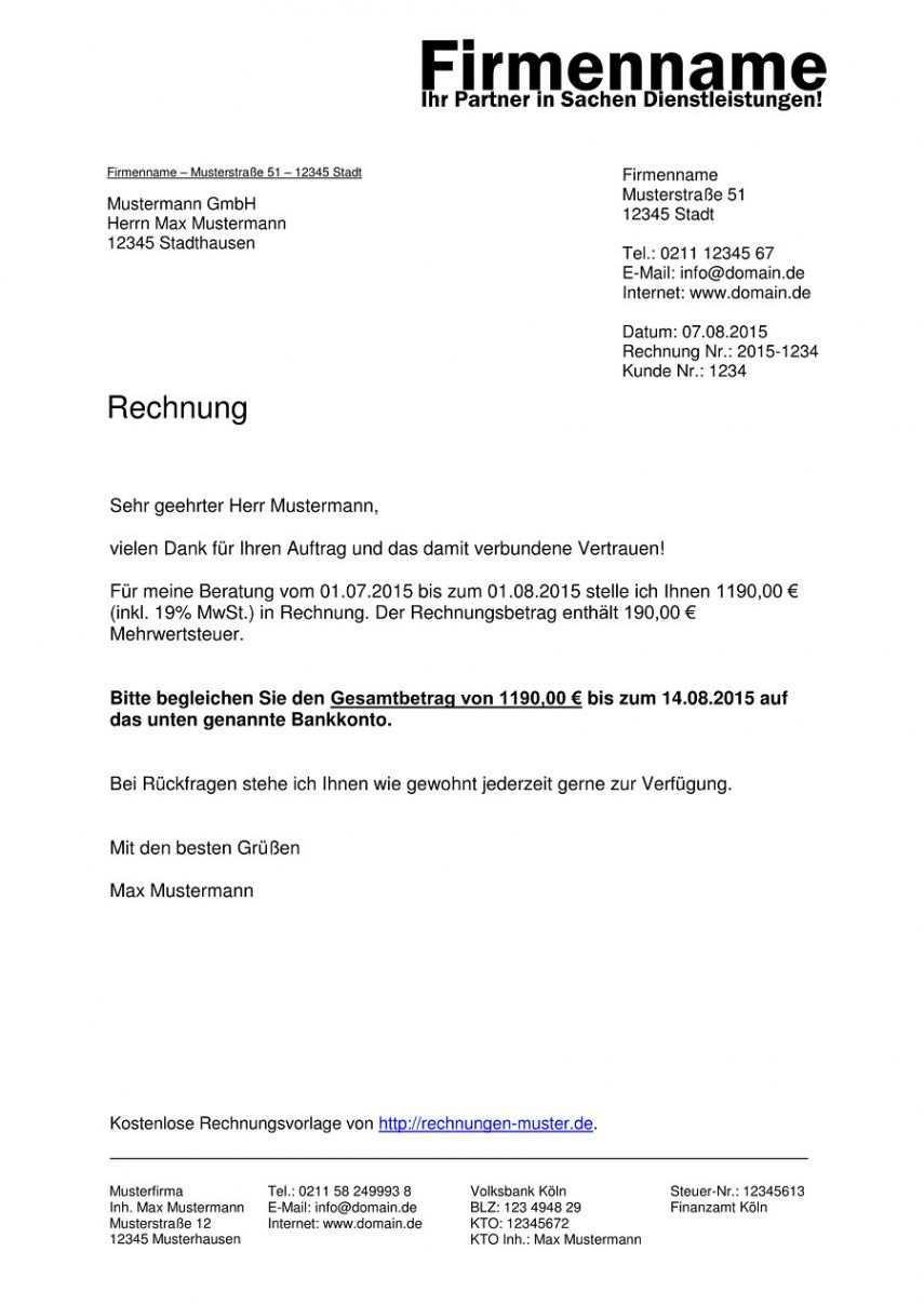 Blattern Unsere Kostenlos Von Rechnung Mit Umsatzsteuer Vorlage Rechnung Vorlage Rechnungsvorlage Rechnungen Schreiben