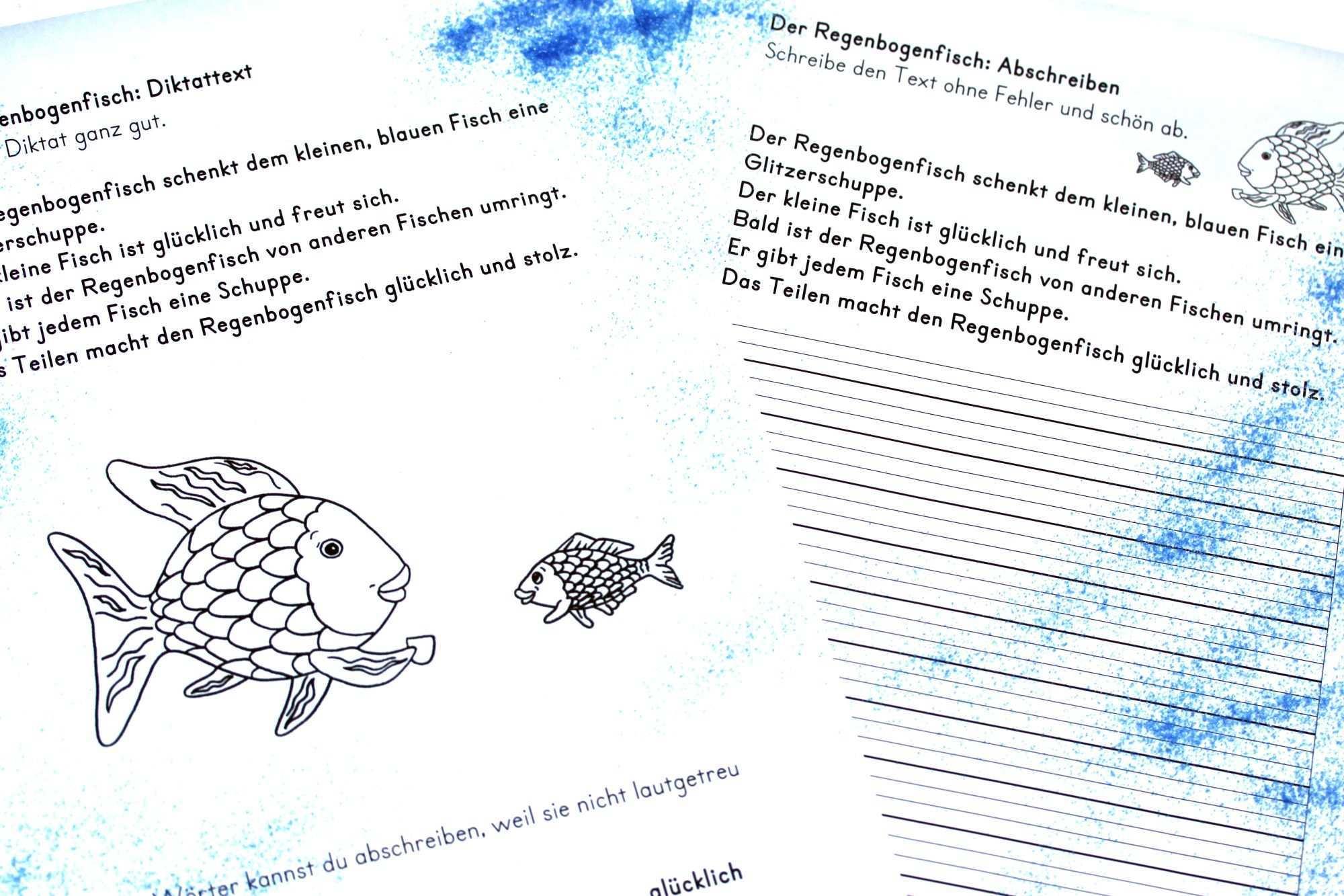 Diktattext Der Regenbogenfisch Regenbogenfisch Fische Regenbogen