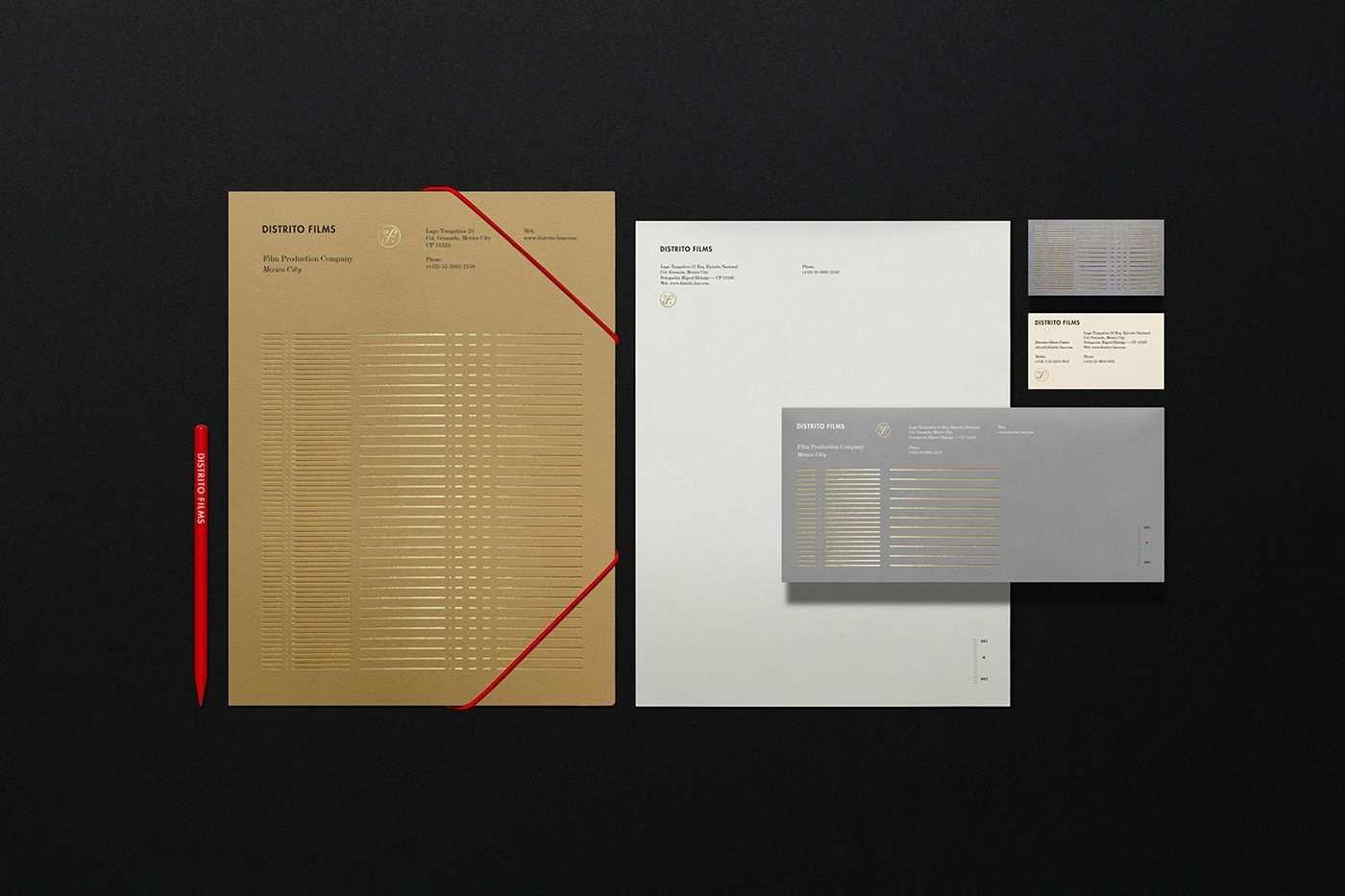 Distrito Films On Behance Unternehmensbroschure Unternehmensbroschure Design Corporate Design