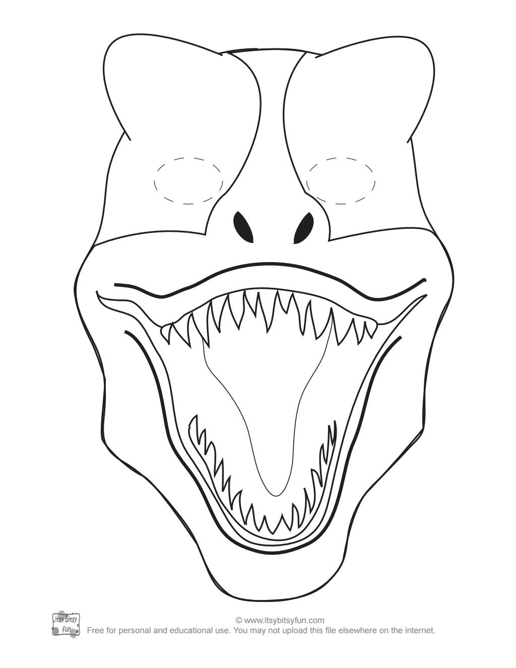 T Rex Mask To Color Pdf Google Drive Dinosaur Mask Dinosaur Art Projects Dinosaur Crafts Kids