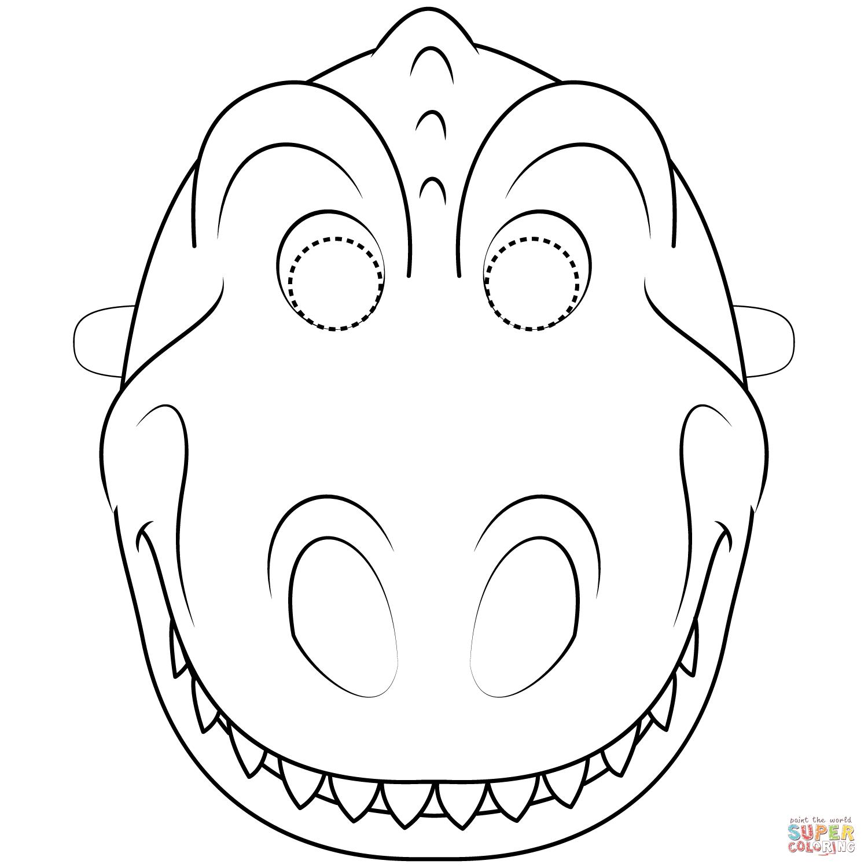 Dinosaur Mask Coloring Page Free Printable Coloring Pages Dinosaur Coloring Pages Dinosaur Mask Mask Template Printable