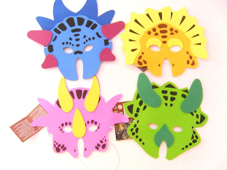 Der Spielzeugtester Hat Das 12 Masken F Kindergeburtstag Karneval Fasching Dinosaurier Dino Maske Moosgummi T Kindergeburtstag Basteln Mit Kindern Dinosaurier