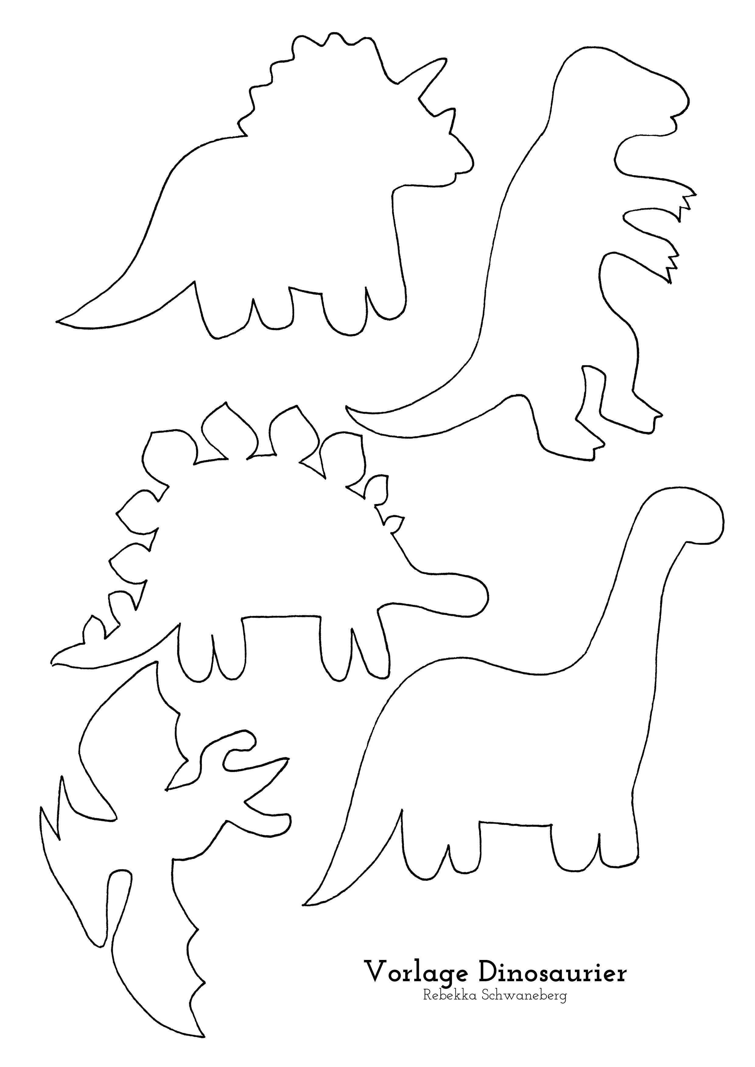 Vorlage Dinosaurier Kostenloser Download Kinder Dinosaurier Dinosaurier Basteln Dinosaurier
