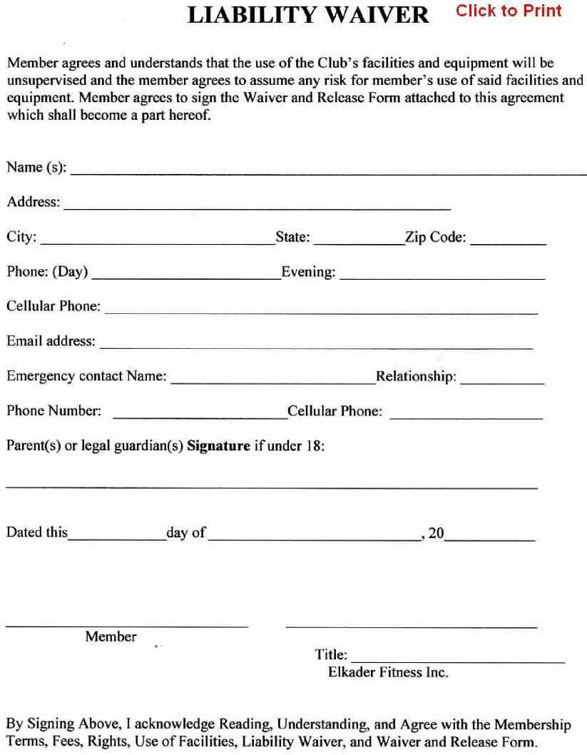 Sports Waiver Form Template Best Of 24 Of Sports Liability Waiver Form Template Liability Waiver Brochure Design Template Templates Printable Free