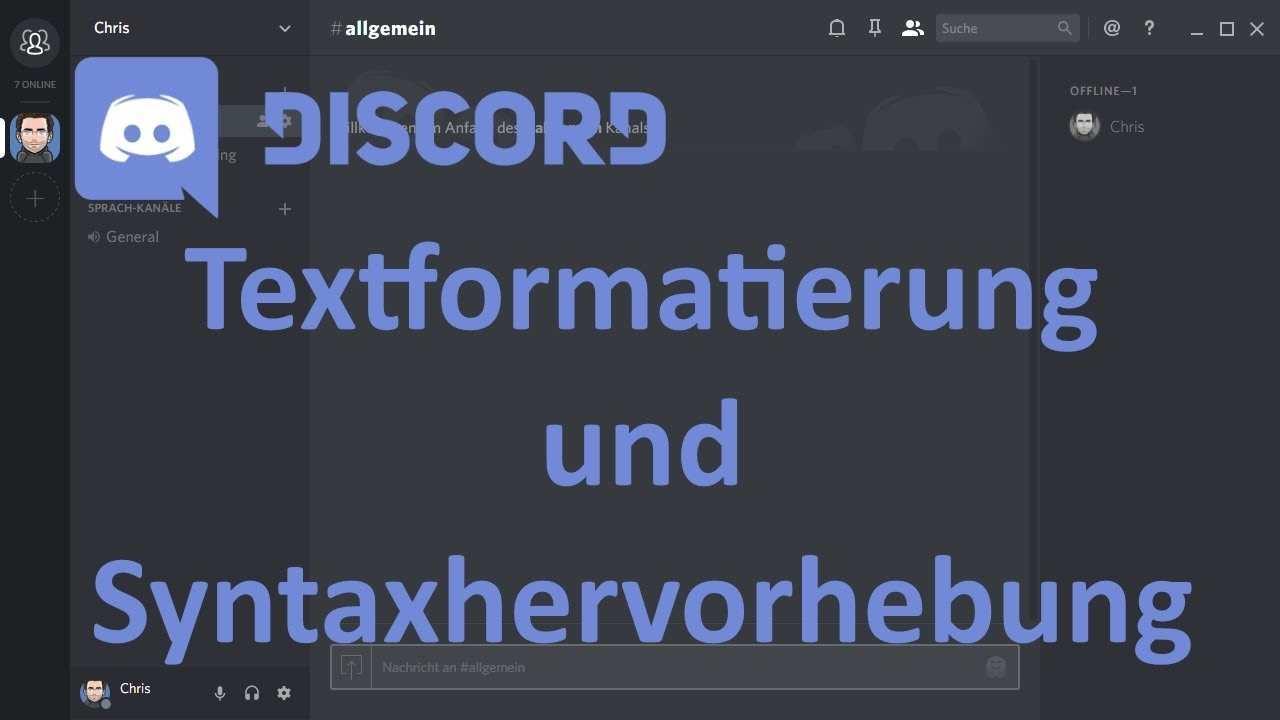 Discord Textformatierung Und Syntaxhervorhebung Youtube