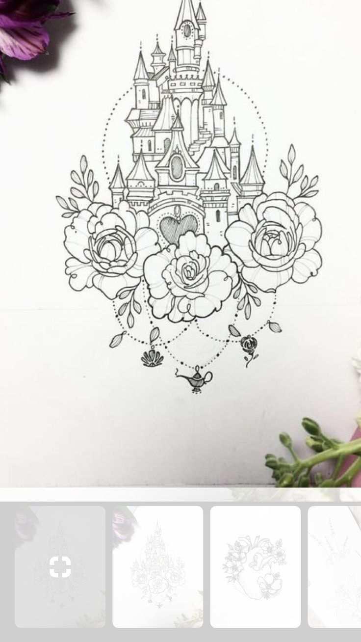 Disneyland Cinderella Castle And Aladdin 39 S Lamp Aladdin39s Castle Cinderella Disneyland Lamp Disney Tattoos Disney Tattoo Vorlagen Burg Tattoo