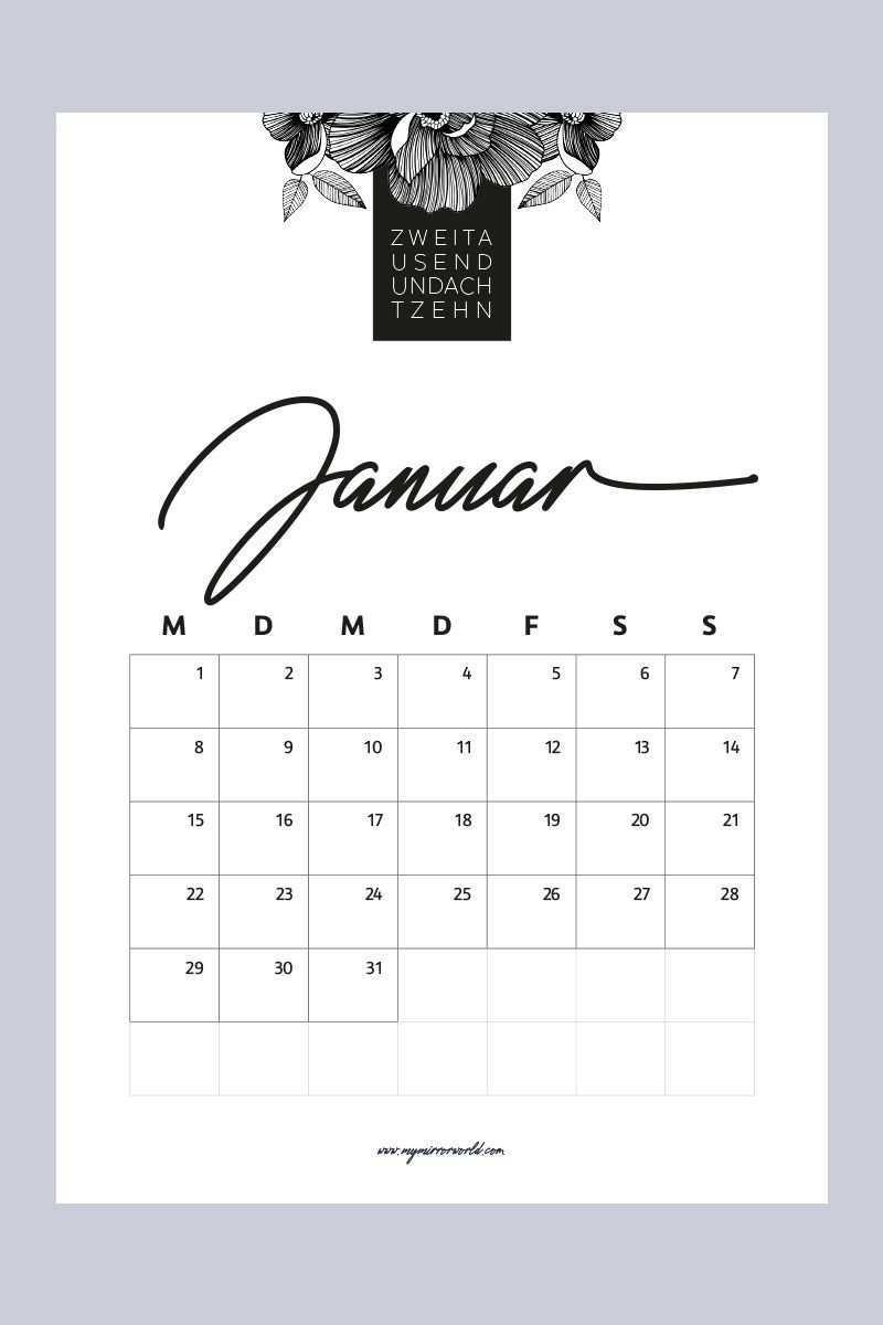 Meine Kalender 2018 Zum Ausdrucken Fur Dich Kalender Zum Ausdrucken Kalender Kalender 2018