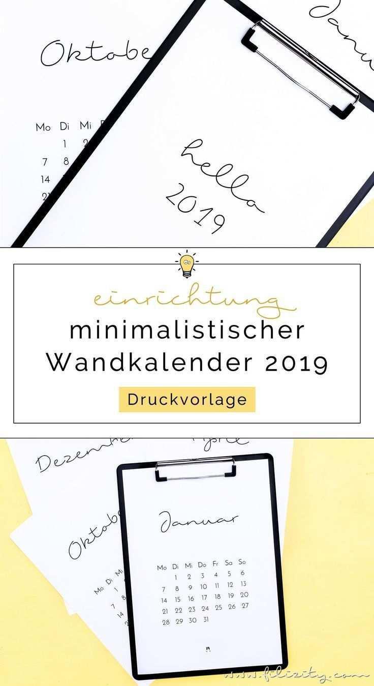 Druckvorlage Minimalistischer Kalender 2019 Filizity Com Interior Diy Blog Aus Dem Rheinland Druckvorlagen Kalender Selber Basteln Diy Blog