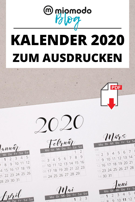 Kalender 2020 Zum Ausdrucken Miomodo Diy Blog Kalender Zum Ausdrucken Kalender Selber Basteln Buch Gestalten