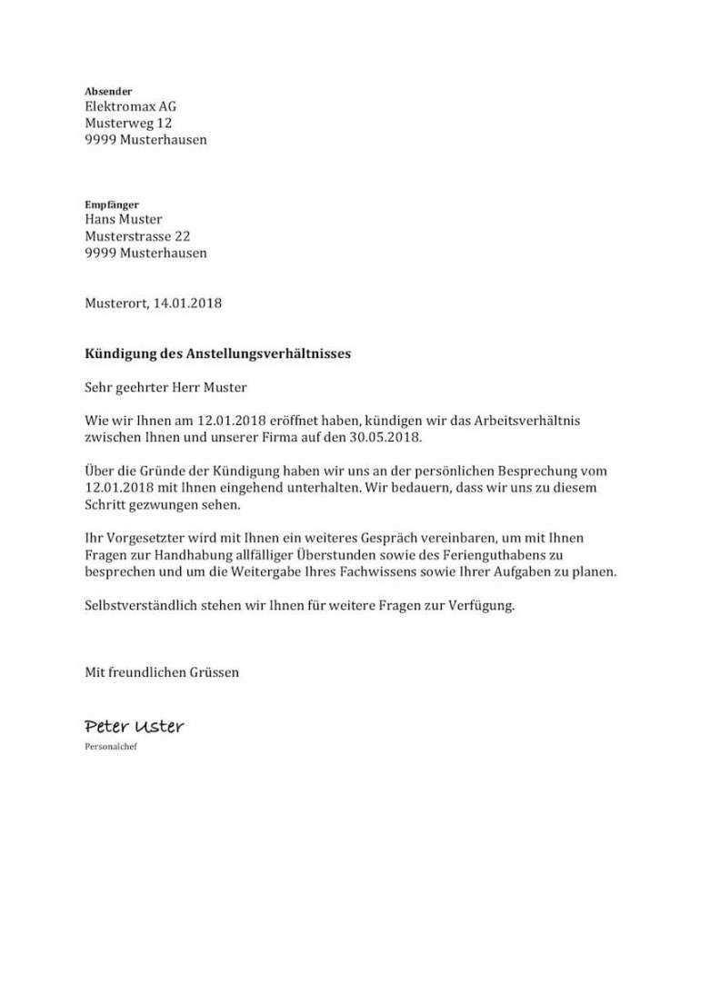 Wunderschon Kundigung Beim Arbeitgeber Vorlage Vorlagen Vorlagen Word Flugblatt Design