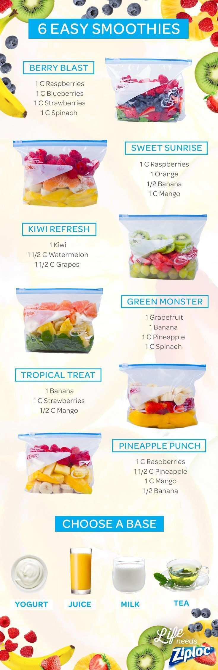 Four Smoothie Recipes Worth Freezing Smoothie Recipes Healthy Smoothie Recipes Healthy Smoothies