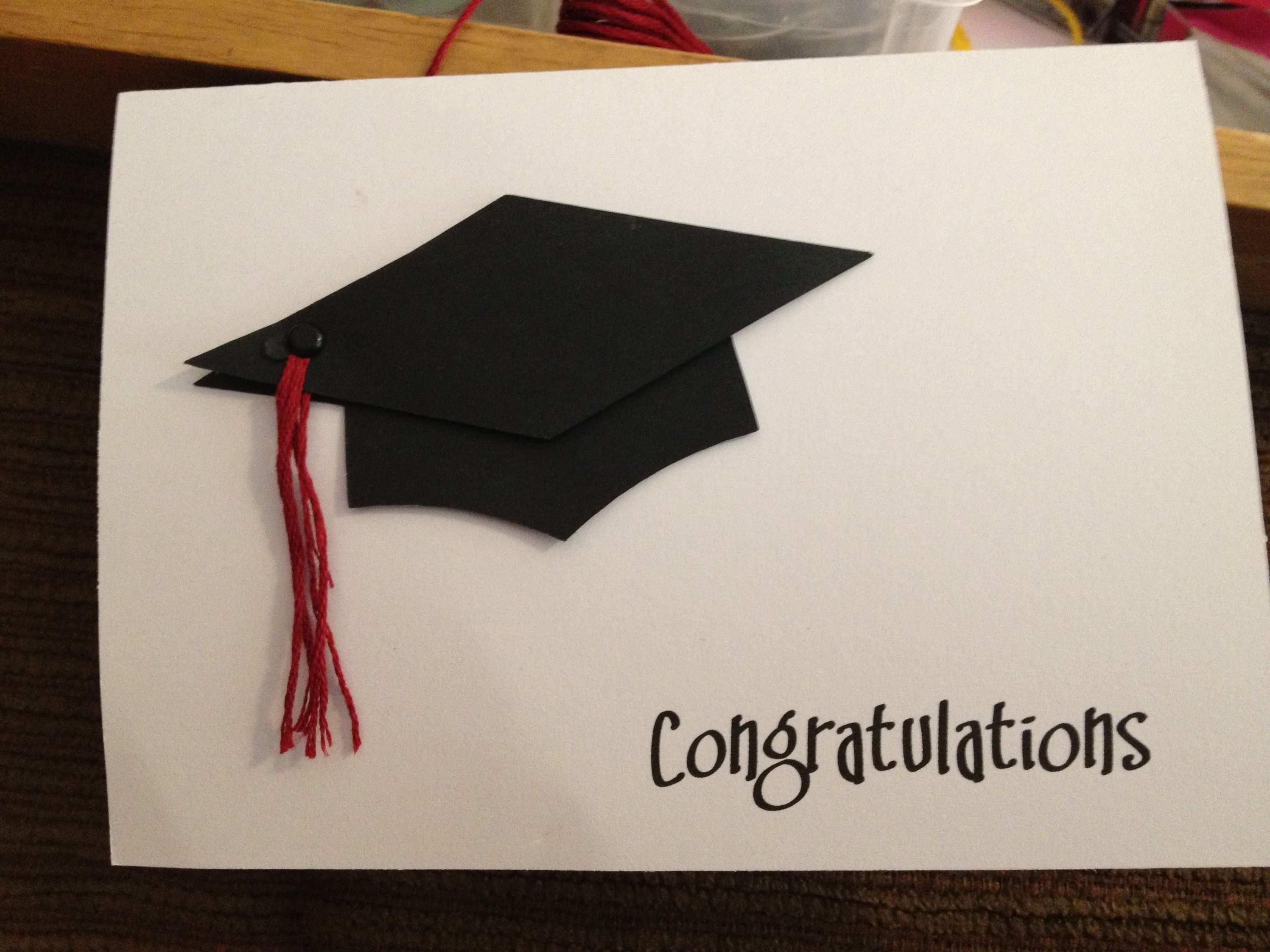 Graduation Card Gluckwunsch Zum Abschluss Geschenke Verpacken Kreativ Karten Basteln