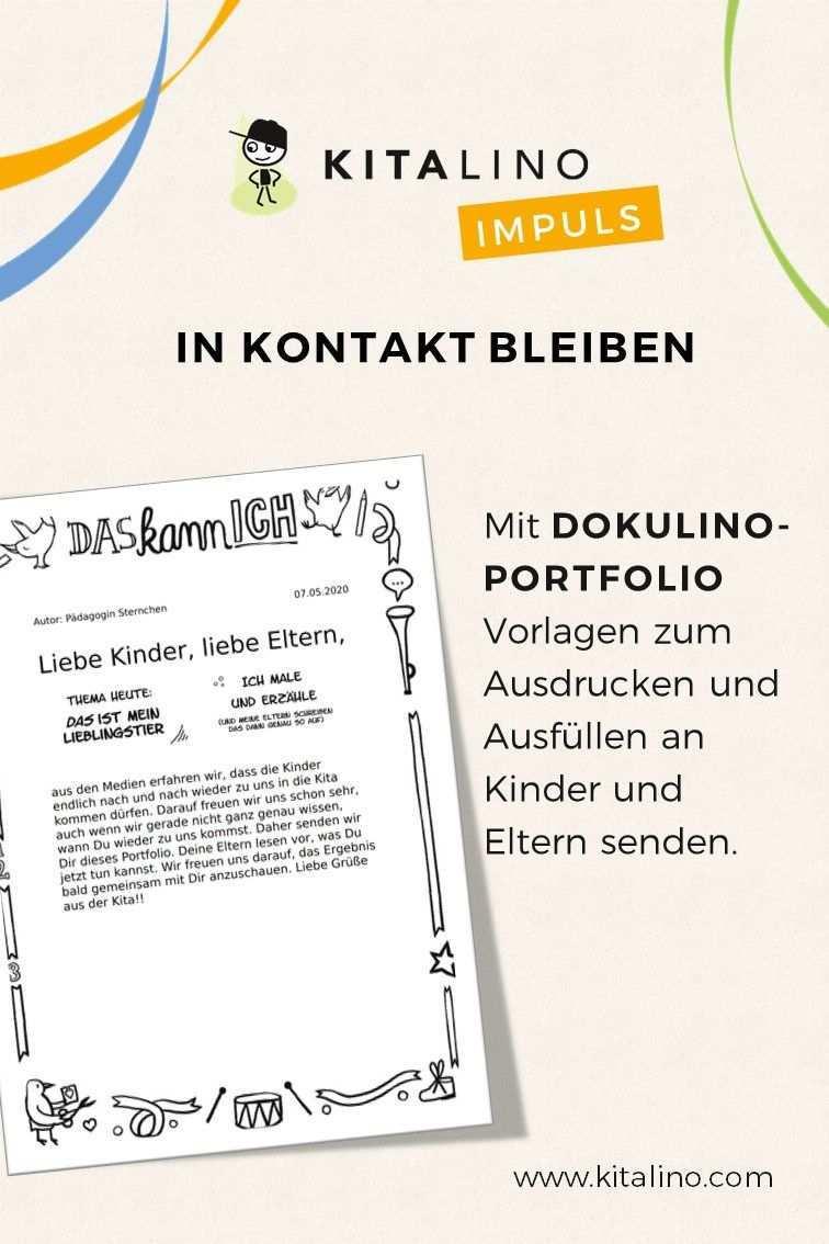 Portfolio Vorlagen Mit Dokulino An Kinder Und Eltern Senden Eltern Kinder Bildung