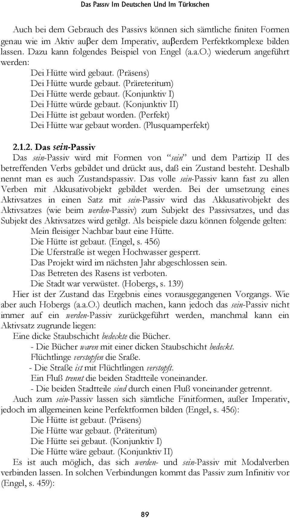Das Passiv Im Deutschen Und Im Turkischen Pdf Free Download