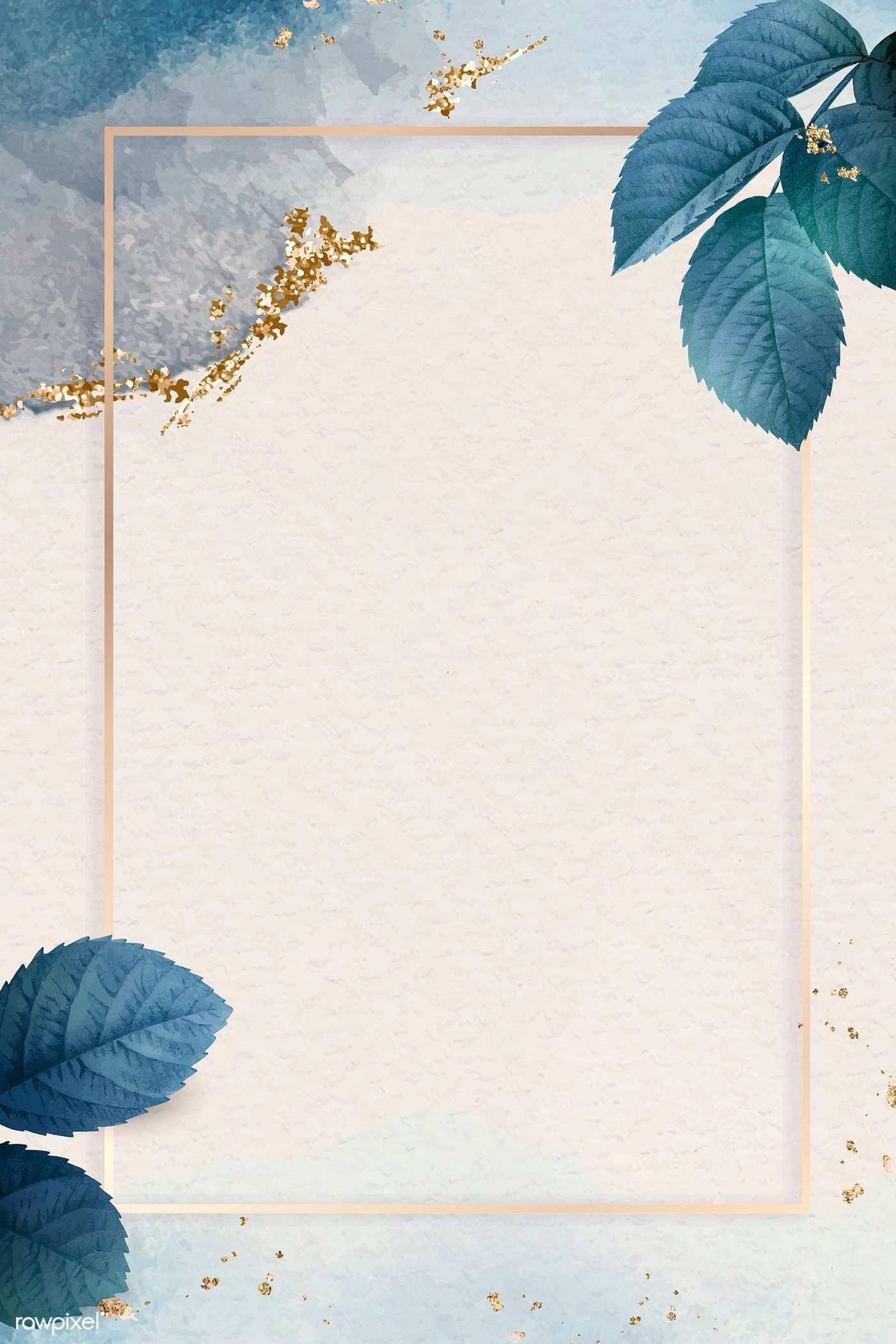 Download Premium Vektor Rechteck Goldrahmen Mit Laubmuster Vector Background Pattern Flower Background Wallpaper Background Patterns