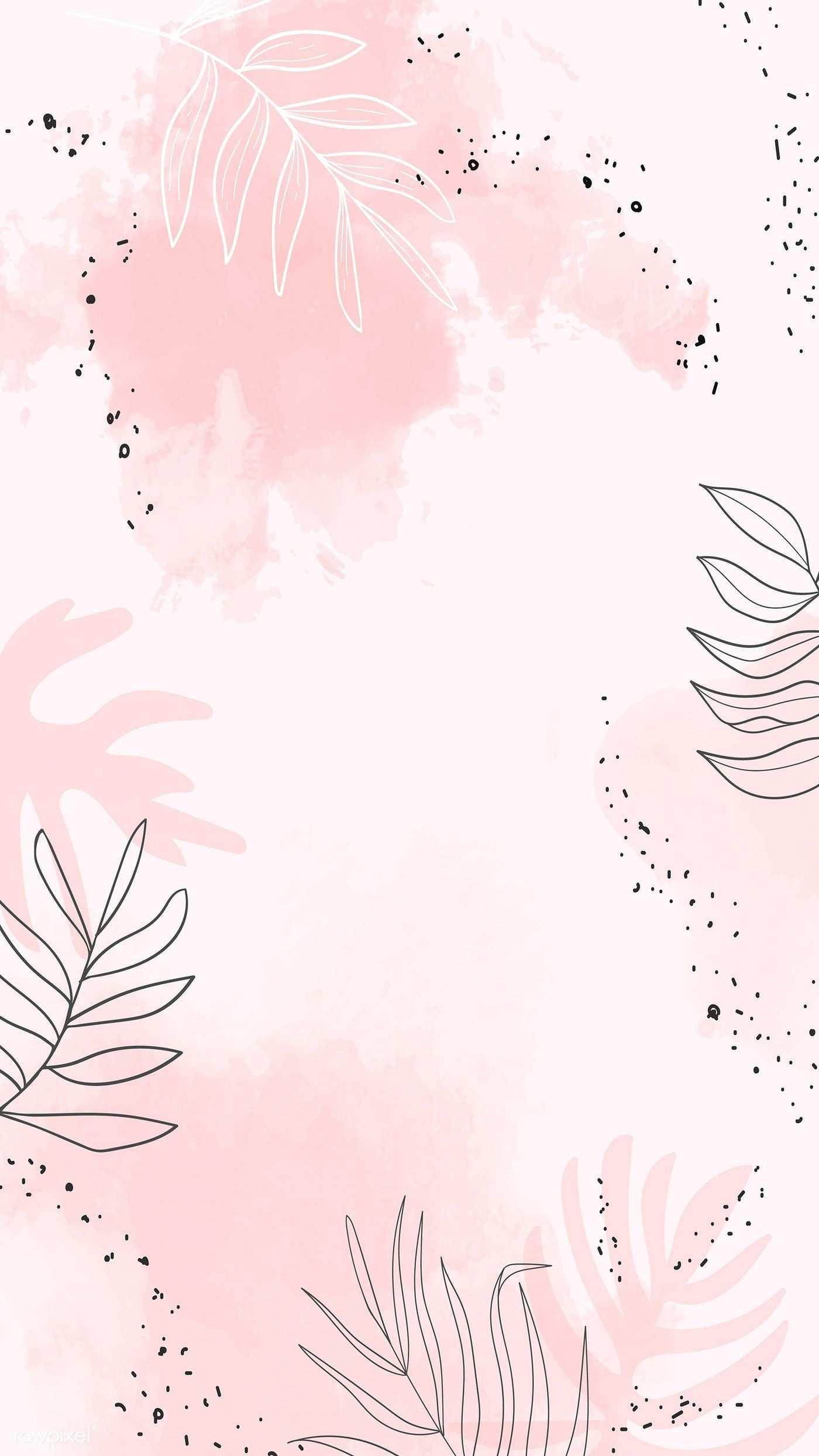 Download Premium Vektor Von Pink Blatt Aquarell Handy Wallpaper Watercolor Wallpaper Iphone Pastel Background Wallpapers Phone Wallpaper Pink