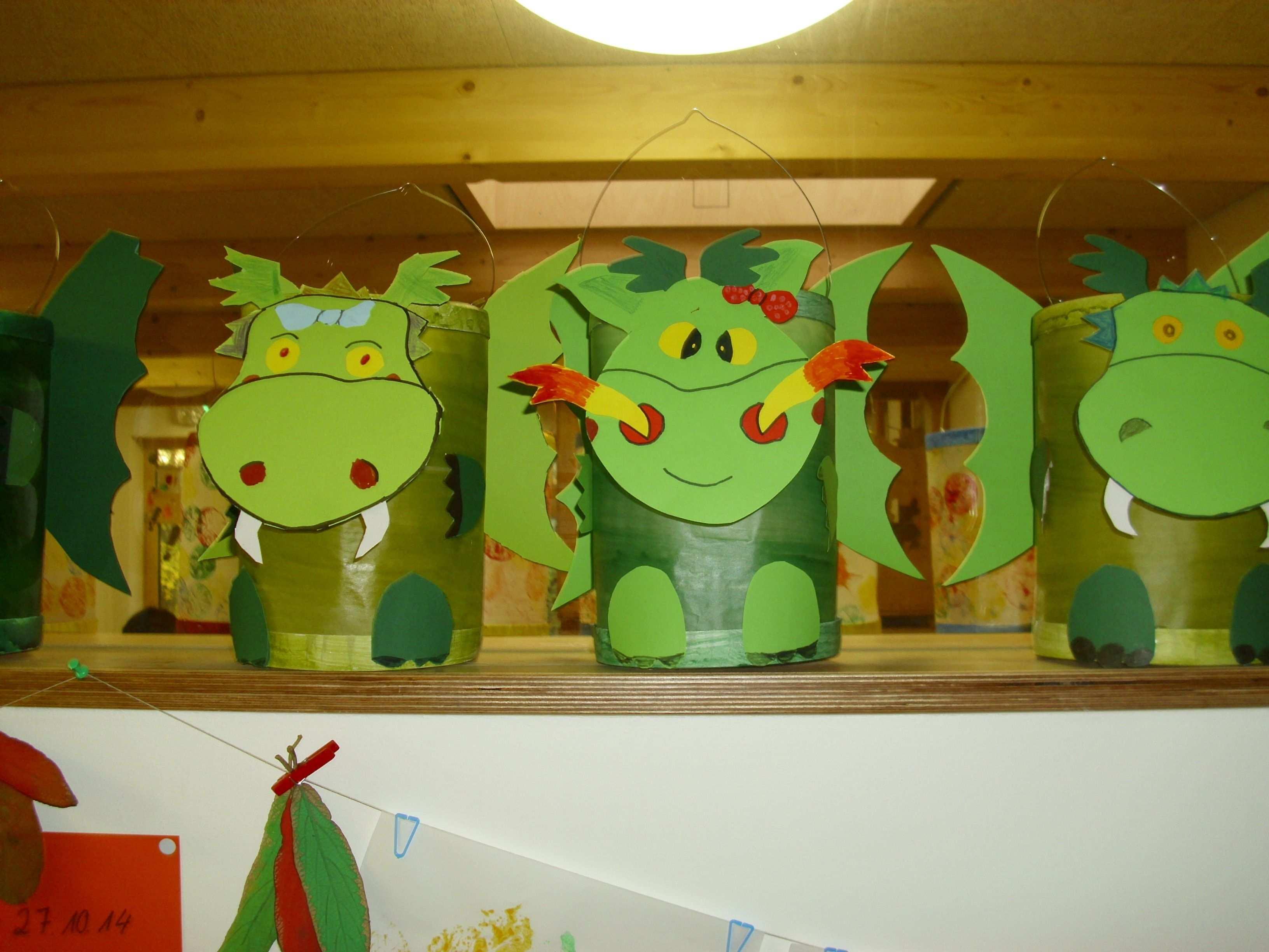 Drachenlaternen Teil 2 Tiere Basteln Basteln Drachen
