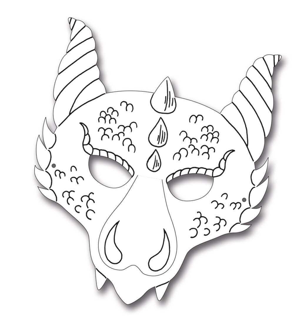 Kindermasken Drache 6er Pack Drachen Basteln Drachen Basteln Vorlage Drachenmaske