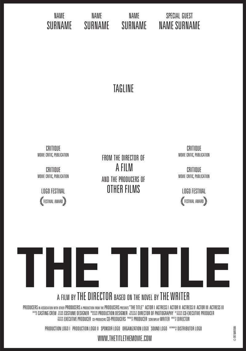 Thetitle Cartel Webbar Filmemachen Filme Poster