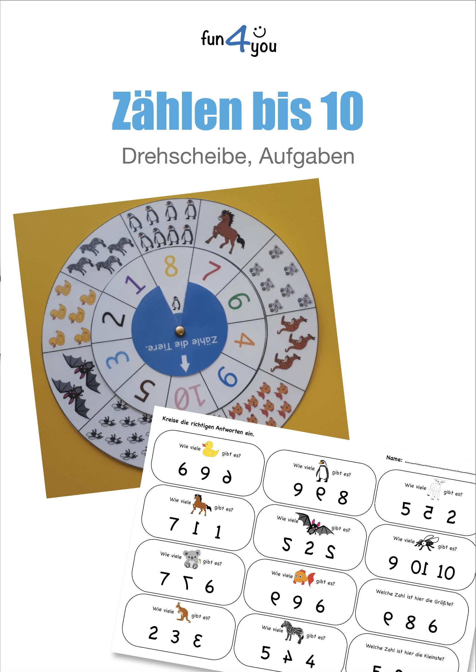 Drehscheibe 1 10 Und Zahlreiche Aufgaben Unterrichtsmaterial Im Fach Mathematik Spielerisches Lernen Drehscheibe Lehrer Planer