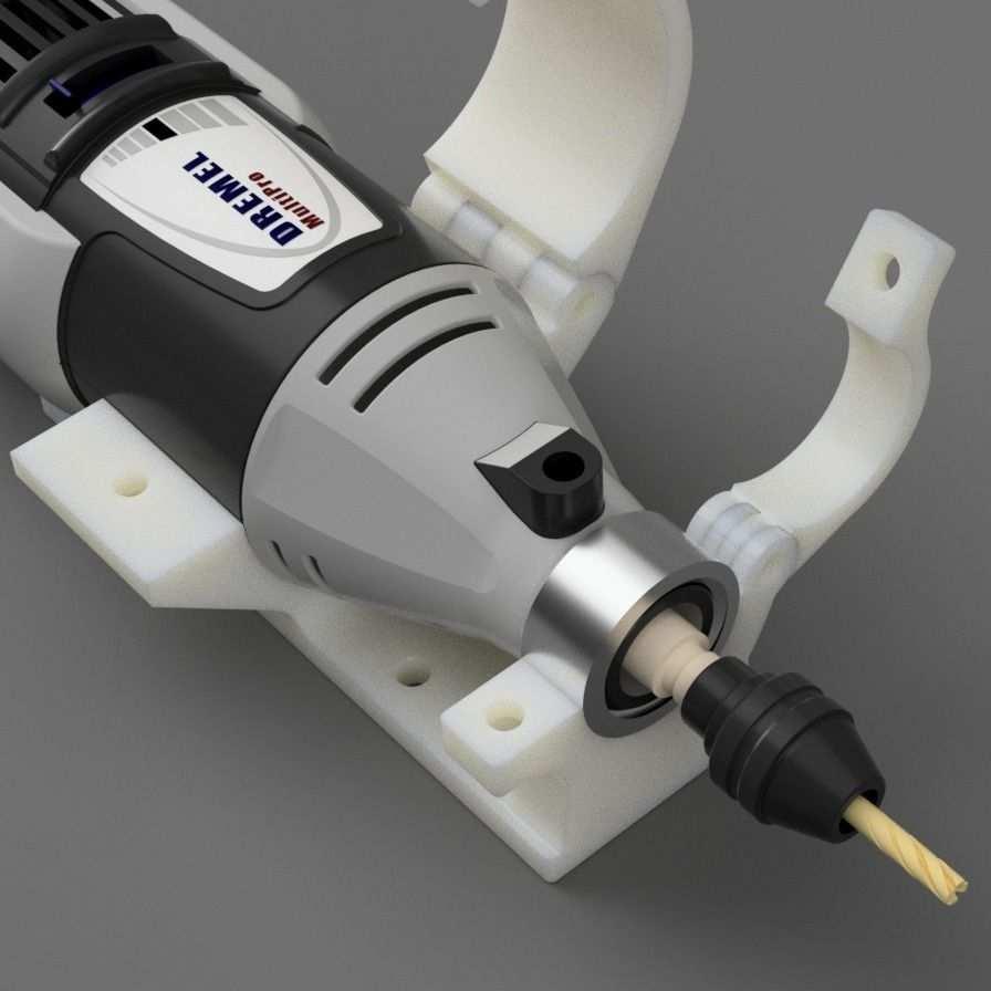 Dremel 395 Mount For Mpcnc Using Universal Tool Mount Plate By Dintid Thingiverse Dremel 395 Dremel Dremel Tool