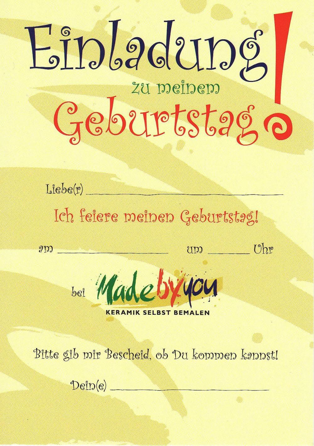 Einladungskarten Einladungen Geburtstag Einladung Insparadies Einladung Insparadies