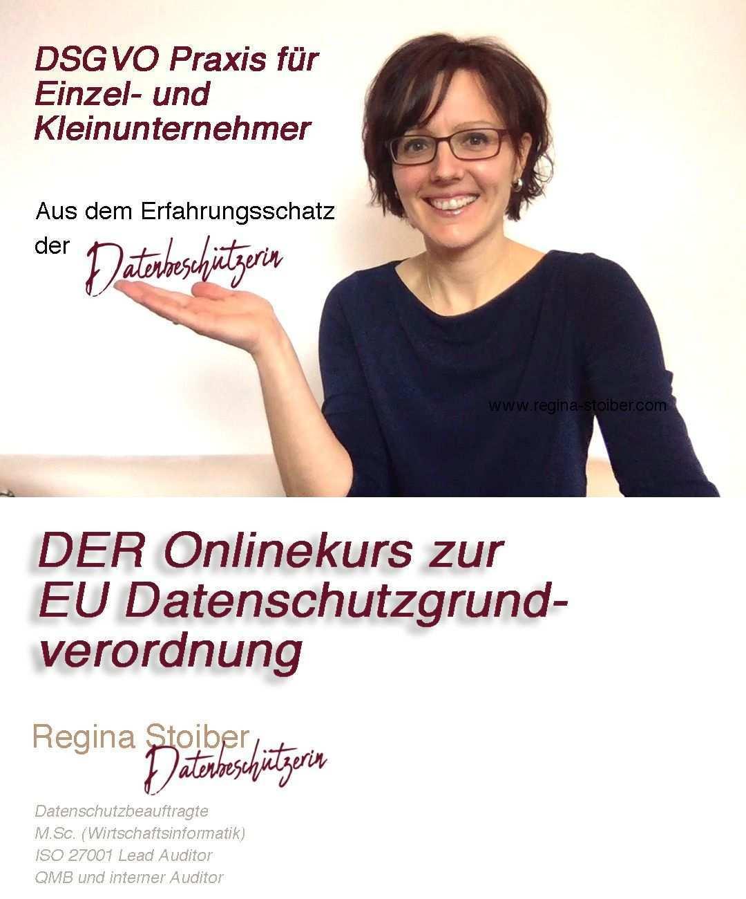 Dsgvo Online Kurs Fur Einzel Und Kleinunternehmer Von Regina Stoiber Datenschutz Dsgvo Digitales Marketing