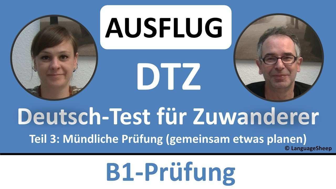 Deutsch Lernen B1 Prufung Dtz Mundliche Prufung Ausflug Gemeinsam Etwas Planen Youtube