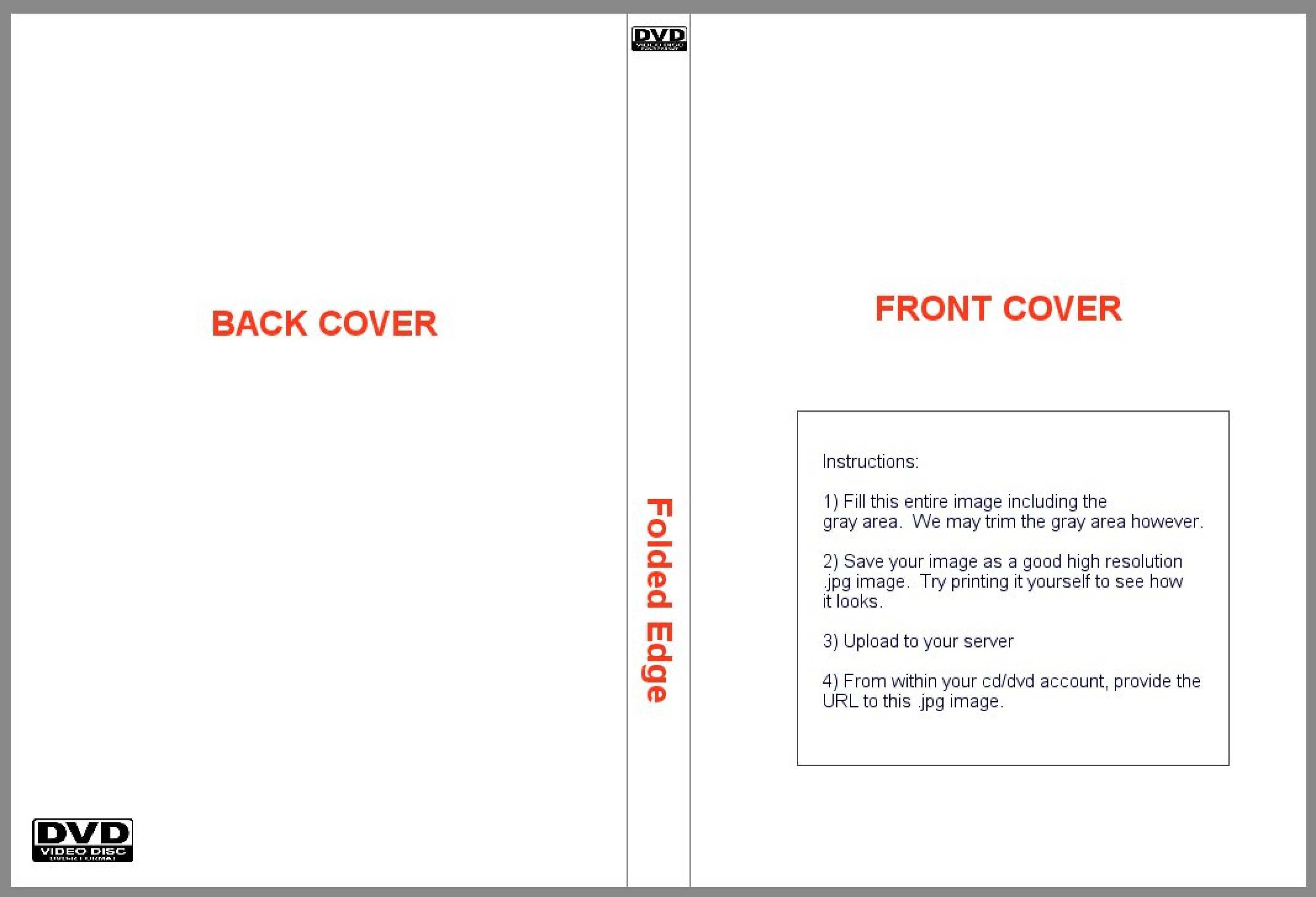 Blu Ray Cover Template Psd