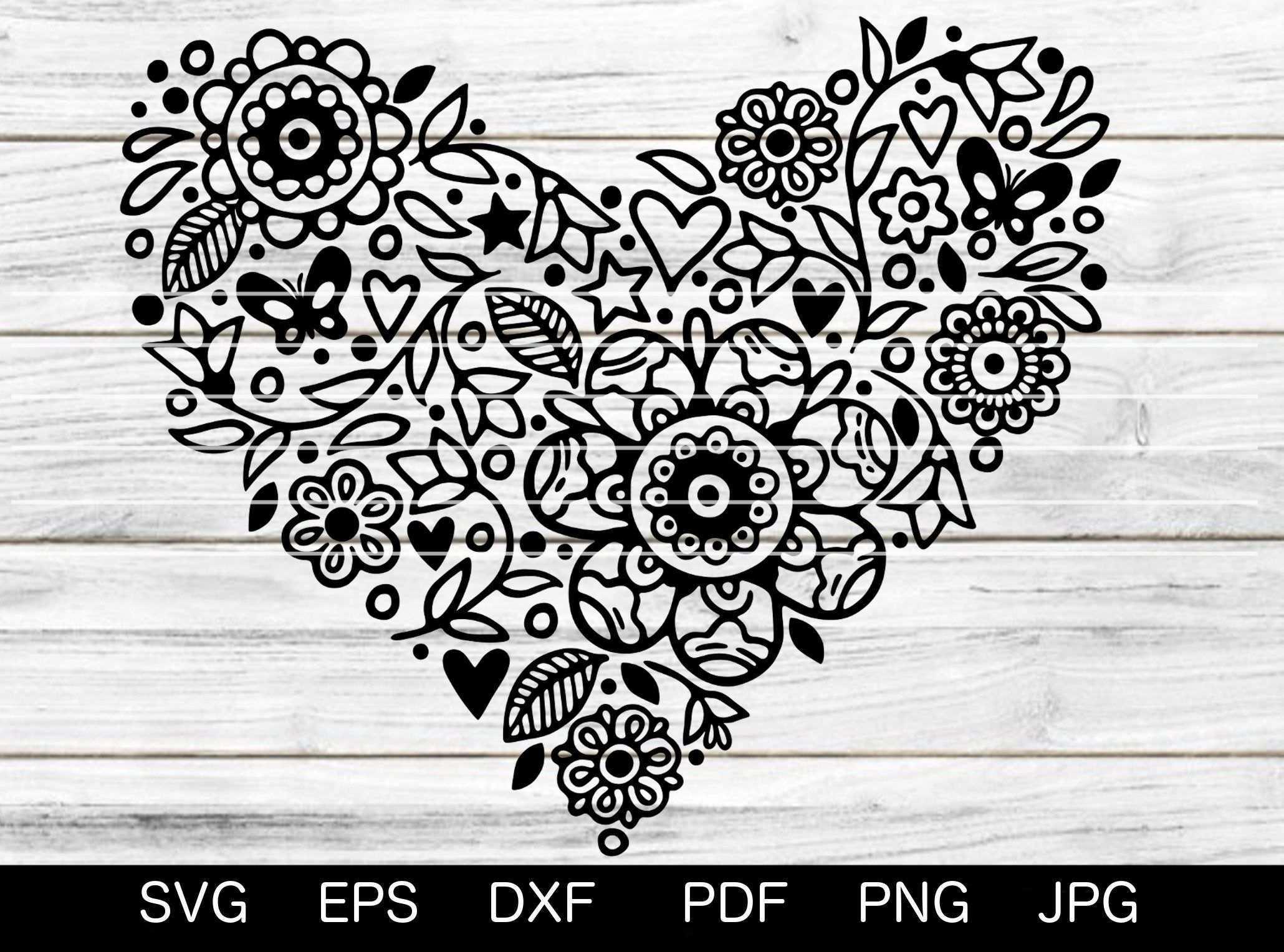 Blumenherz Svg Plotterdatei Blumen Herz Muttertag Dekoration Dekoblumen Schnitt Datei Svg Dxf Eps Png Pdf Cricut Silhouette Brother Tapestry Decor Home Decor