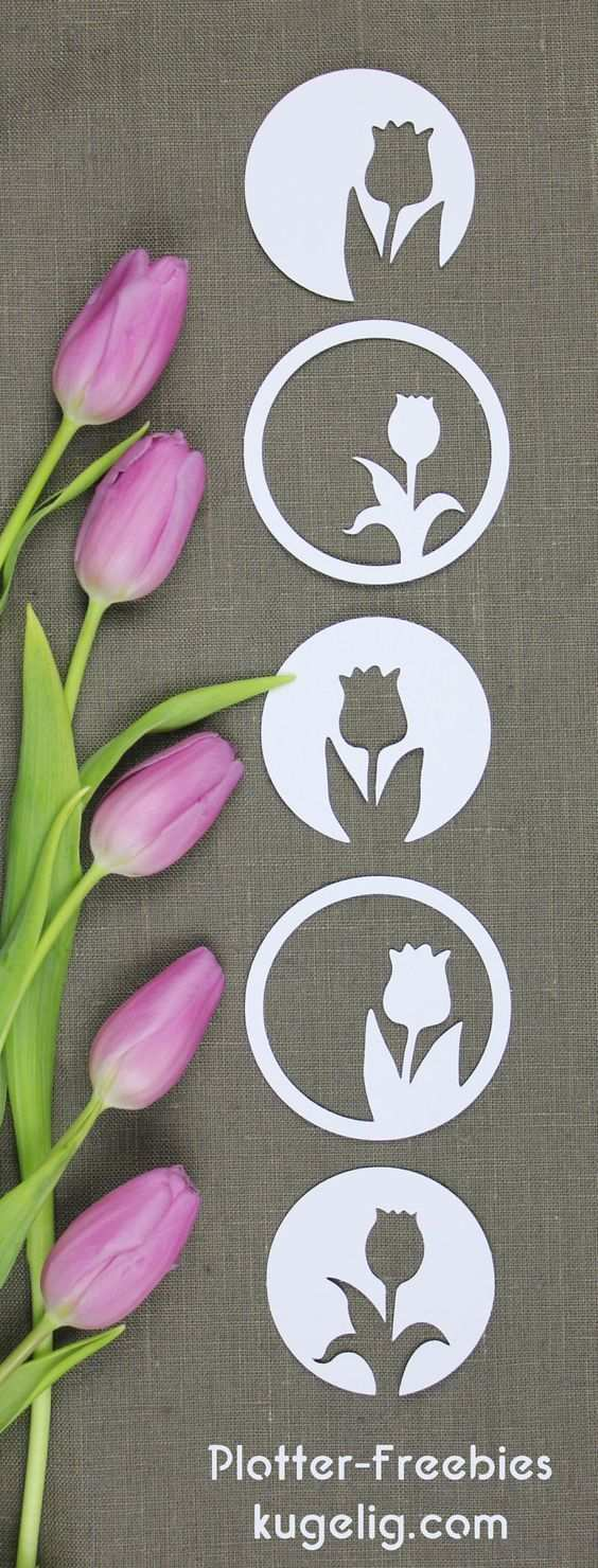 Tulpen Silhouette Plotterfreebie Svg Dxf Kugelig Com Tulpen Basteln Osterhasen Girlande Basteln Blumen Basteln