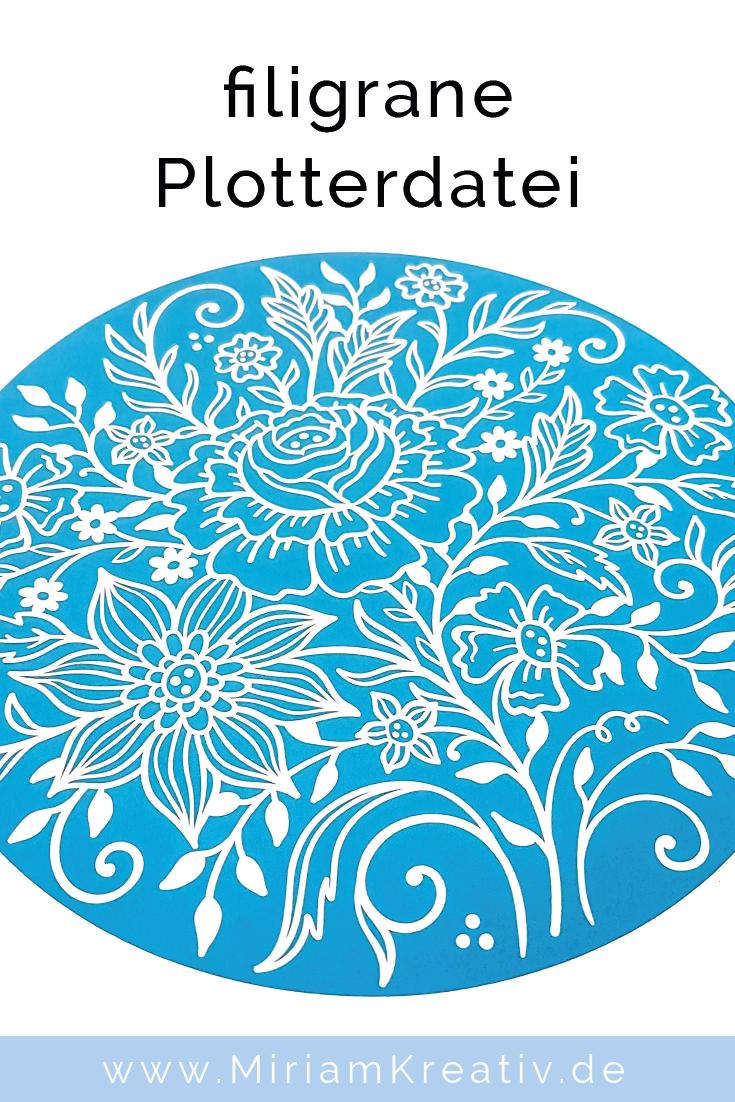 Filigrane Plotterdatei Blumen Doodle Im Format Svg Dxf Plottdatei Schneidedatei Cameo Portrait Brother Blumenkugel Plotterdatei Plotten