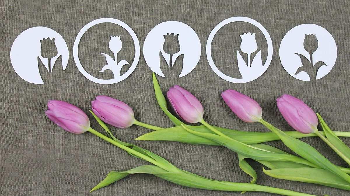 Tulpen Silhouette Plotterfreebie Svg Dxf Kugelig Com Tulpen Basteln Blumen Schablone Scherenschnitt Blumen