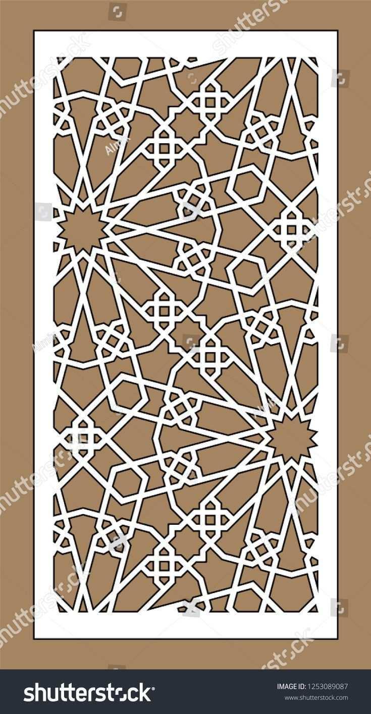 Laser Schneiden Arabesken Vektor Panel Vorlage Fur Die Inneneinteilung In Arabeskenvektorpanel Die Fur Innene Mosaik Dxf Vorlagen Innenfensterladen