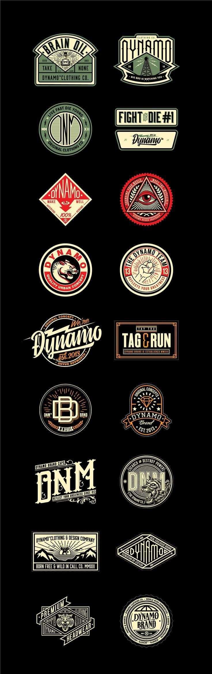 Dichtungen Fur Verschiedene Kleidungsstucke Der Marken Cali In 2020 Grafik Design Logos Vintage Logo Dynamo