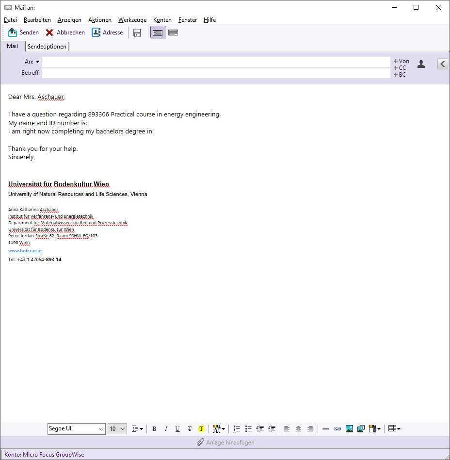 Wie Schreibt Man Eine E Mail Institut Fur Verfahrens Und Energietechnik Ivet Department Fur Materialwissenschaften Und Prozesstechnik Map Boku