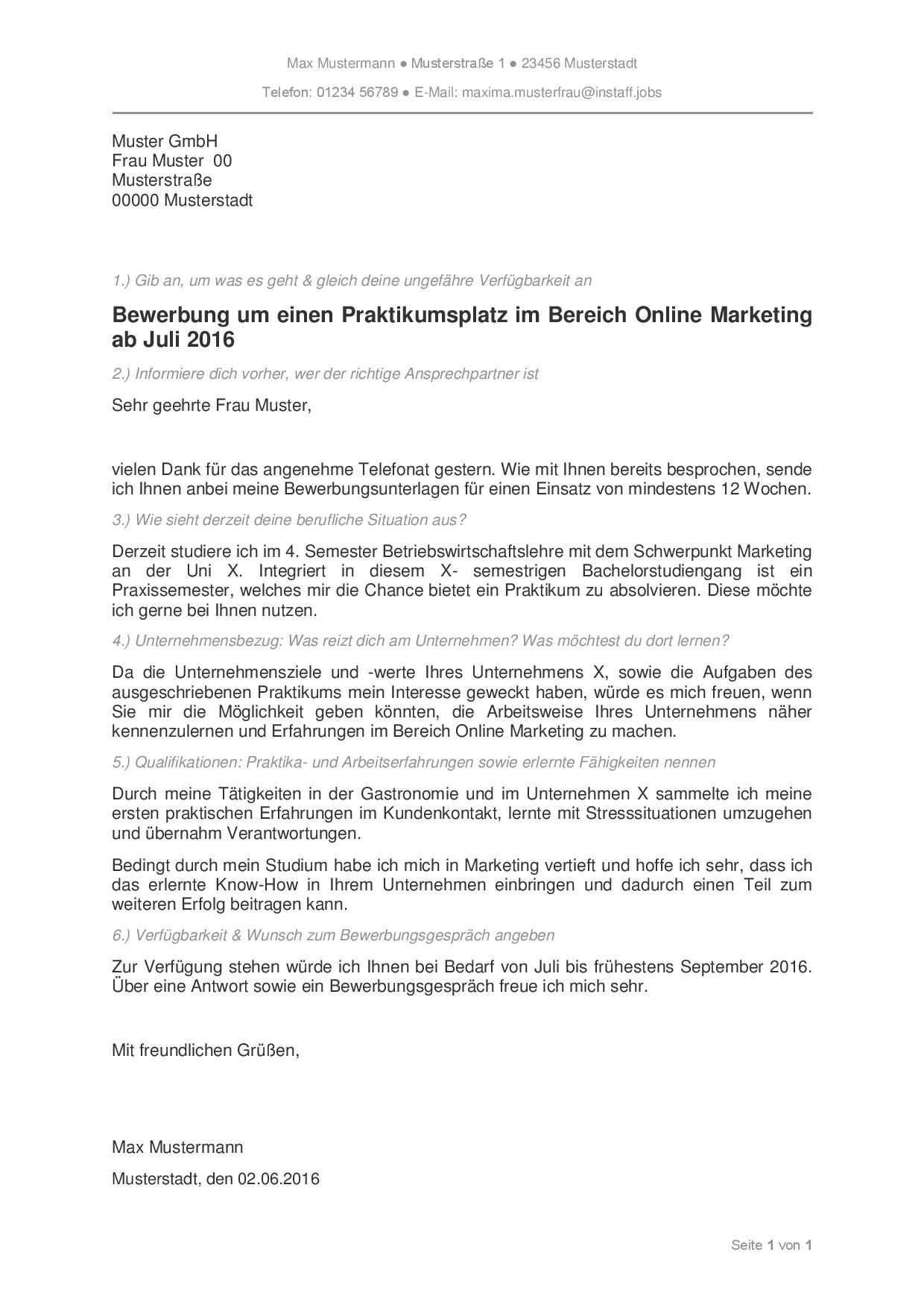 Muster Bewerbungsschreiben Bewerbungsschreiben Praktikum Bewerbung Muster Als Bewerbungen Jobs Pdf Instaff Word De In 2020 Document Templates Resume Types Of Resumes